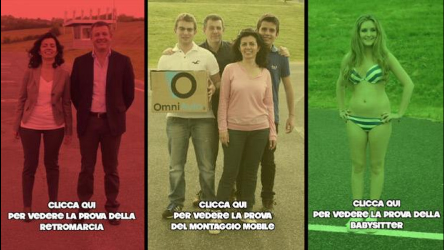 Social Test Kia Carens: il gambero, il mobile Ikea e la baby-sitter [VIDEO]