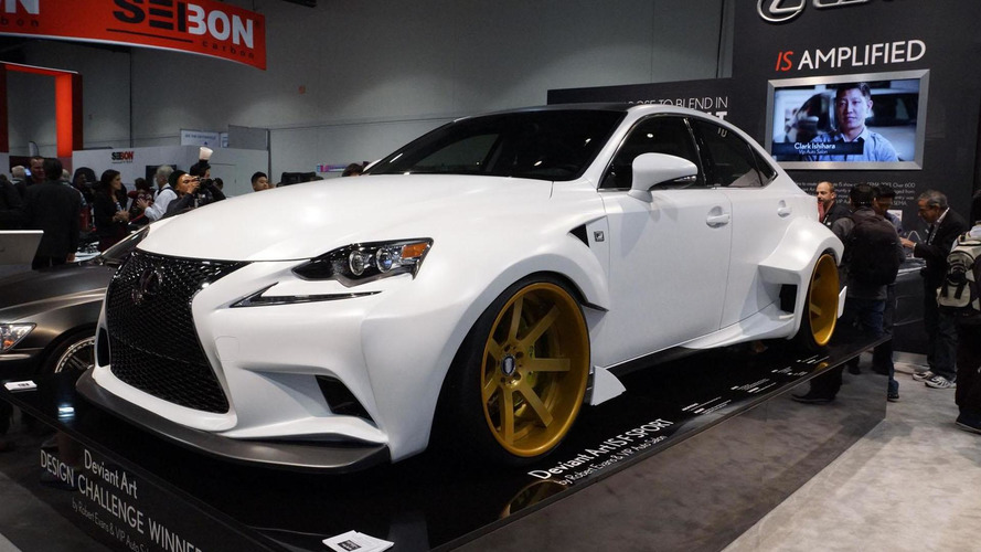 Lexus unveils their DeviantArt design challenge IS 350 F SPORT at SEMA