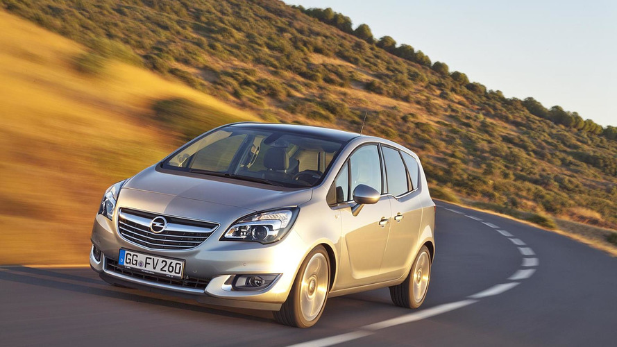 2014 Opel Meriva debuts in Brussels with minor styling updates & a new engine