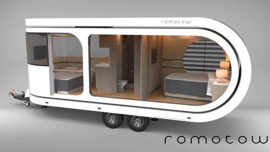 Romotow, la caravana con la forma de un clip