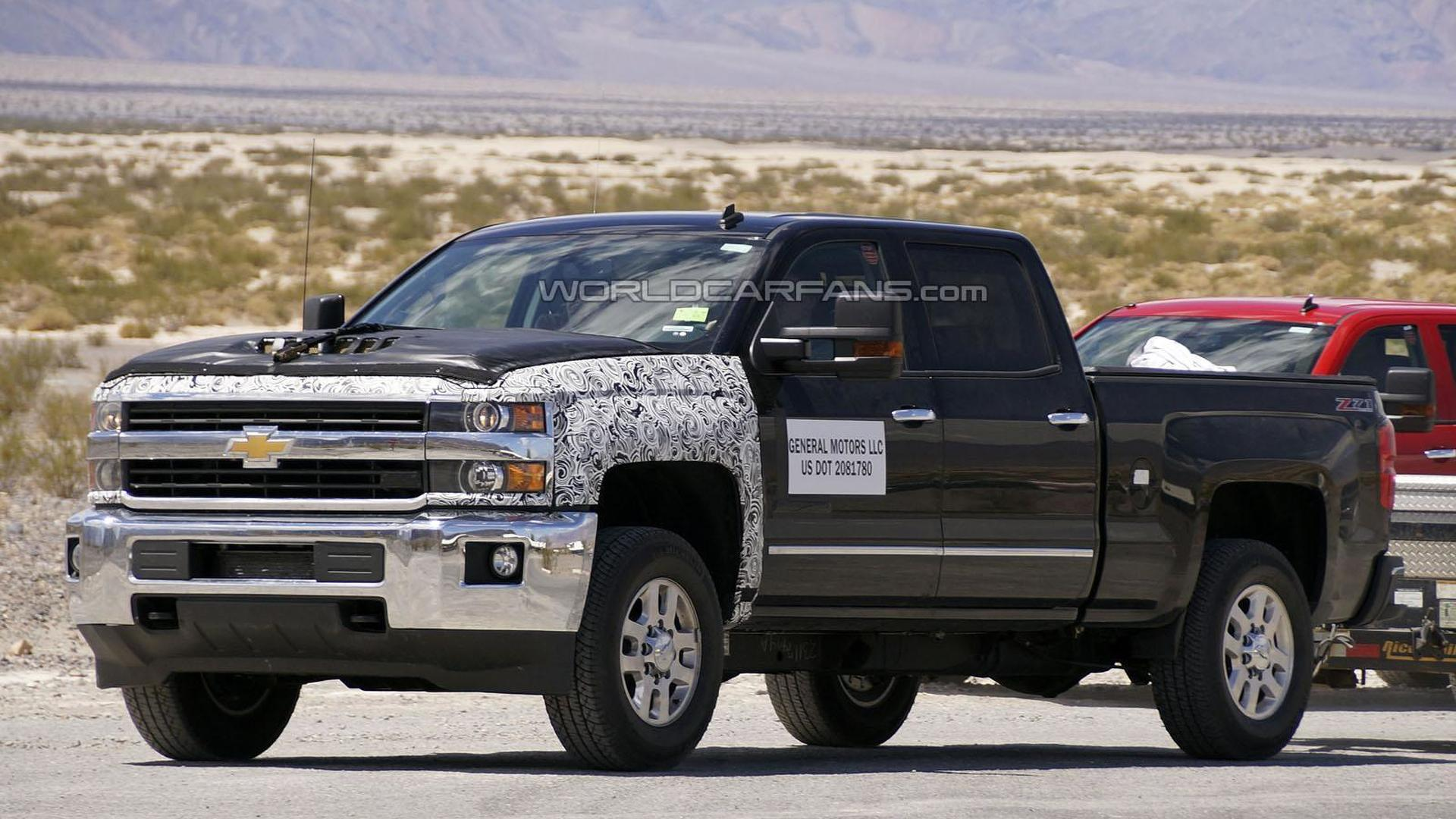 2016 Chevrolet Silverado Hd Spied Could Be Testing A New Sel Engine