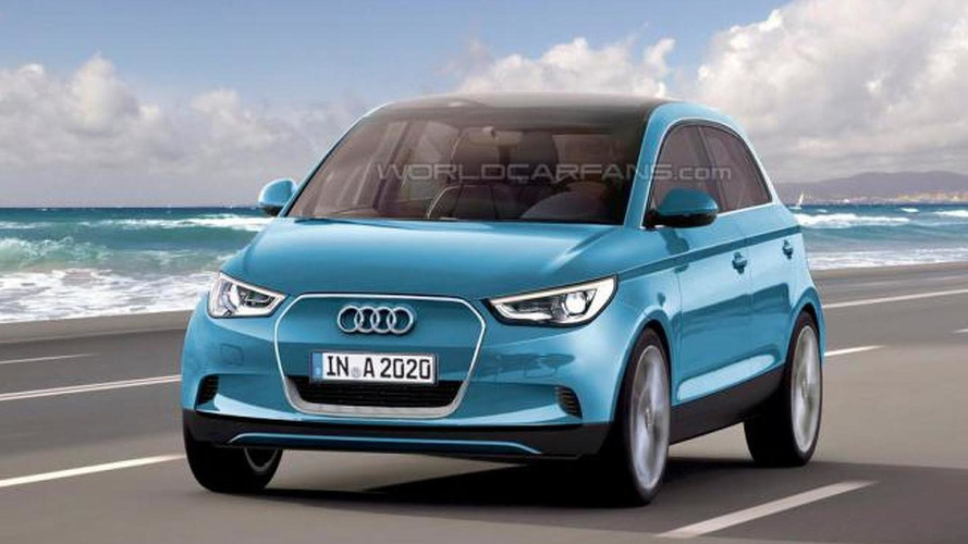 Audi A2 still under development - speculatively rendered