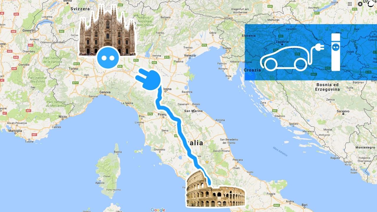 [Copertina] - Roma-Milano con l'auto elettrica? Sì, ma senza fretta