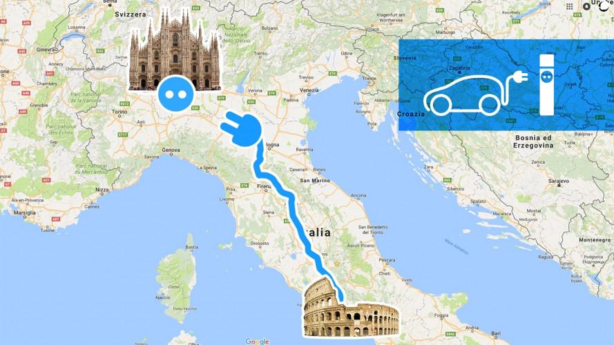 Roma-Milano con l'auto elettrica? Sì, ma senza fretta