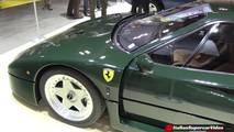 Ferrari F40 pintado en Verde Abetone