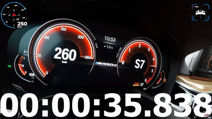 Diesel Power: BMW M550d Speed Limiter Kicks In After 35 Seconds