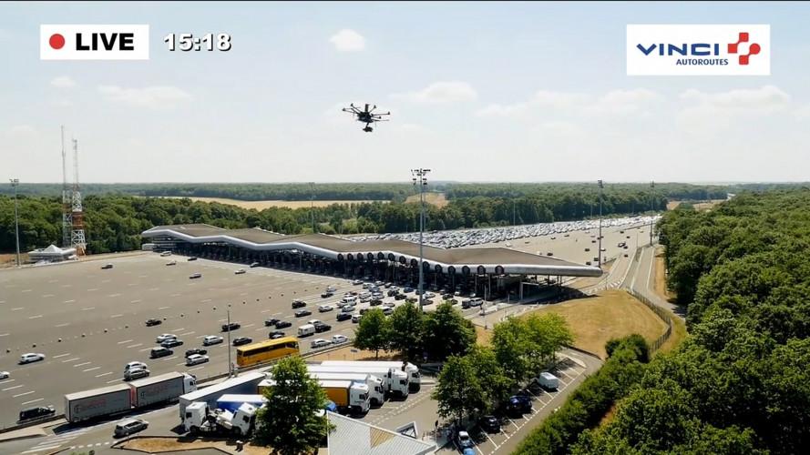 Multe, in Francia arrivano dal drone