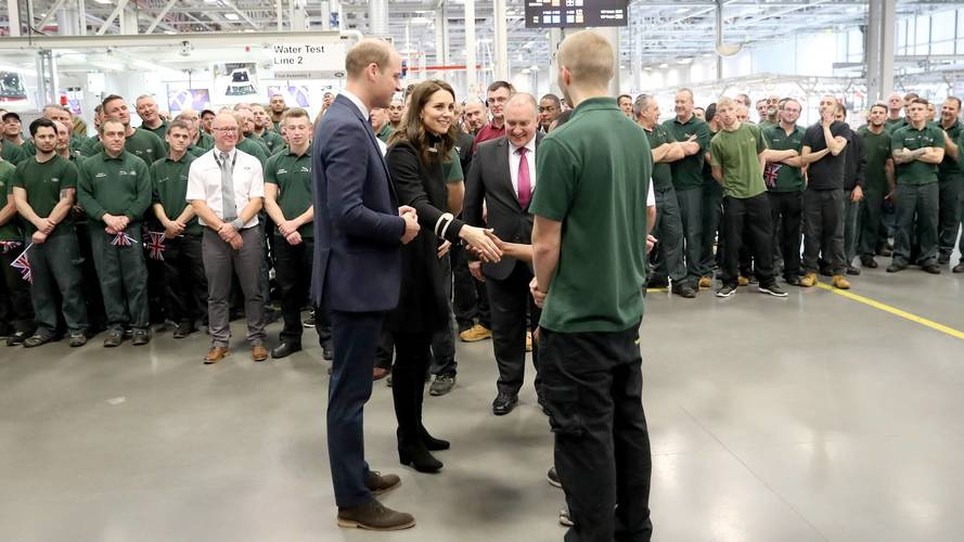 Jaguar Land Rover enjoys royal visit