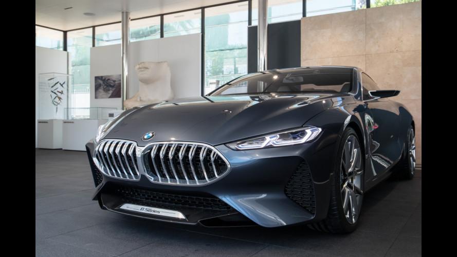 La BMW Serie 8 Concept si fa ammirare in Versilia