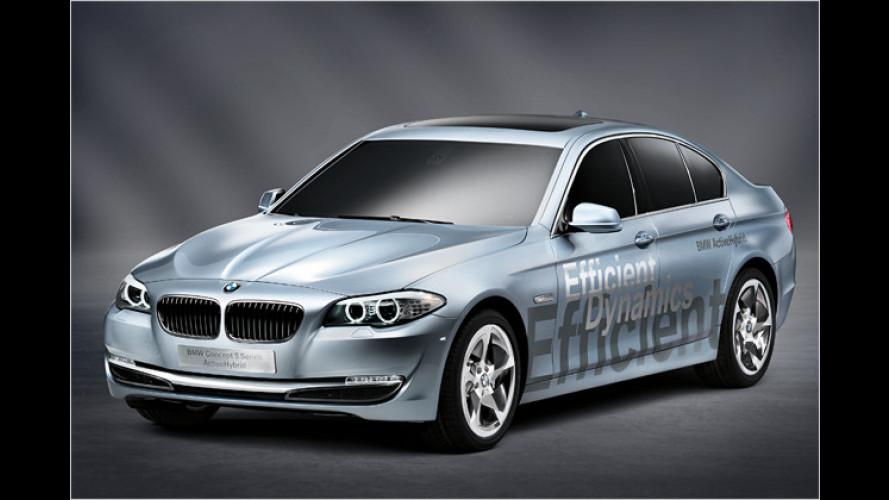 Blick in die Zukunft: BMW 5er mit Hybridantrieb