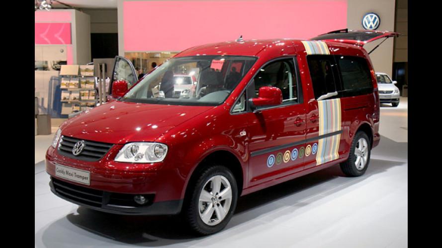 Für Camping und Freizeit: Der neue VW Caddy Maxi Tramper