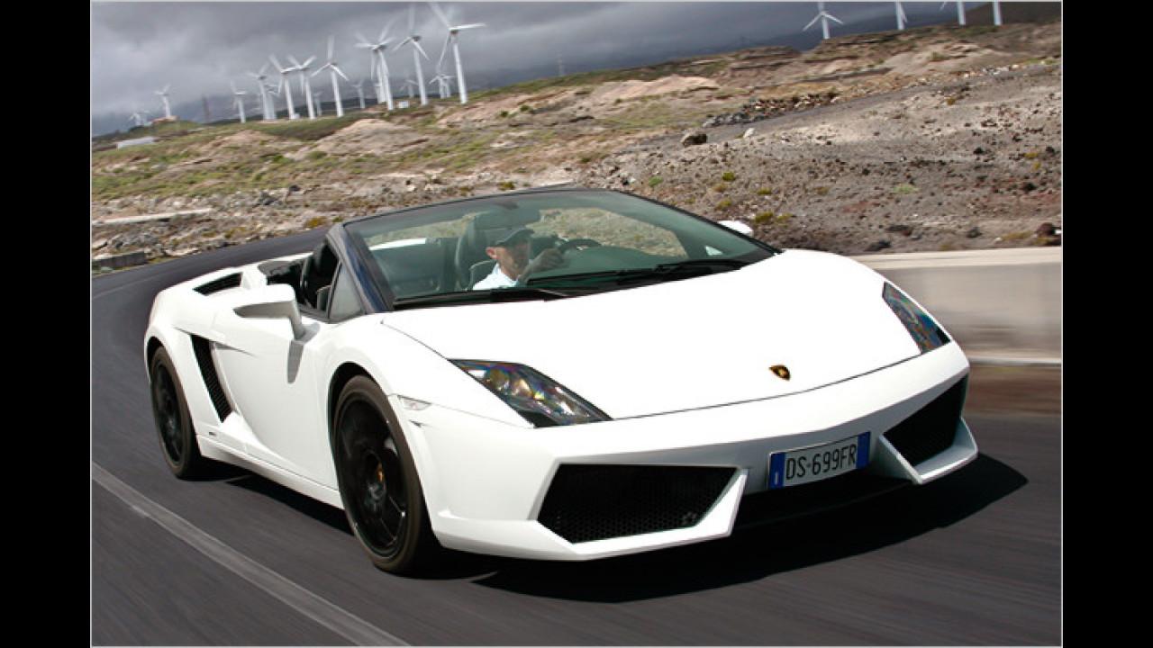 5. Platz: Lamborghini Gallardo Spyder