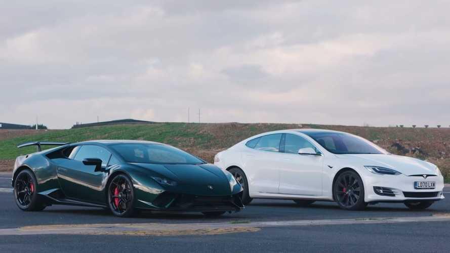 Tesla Model S sfida Lamborghini Huracan Performante: il video