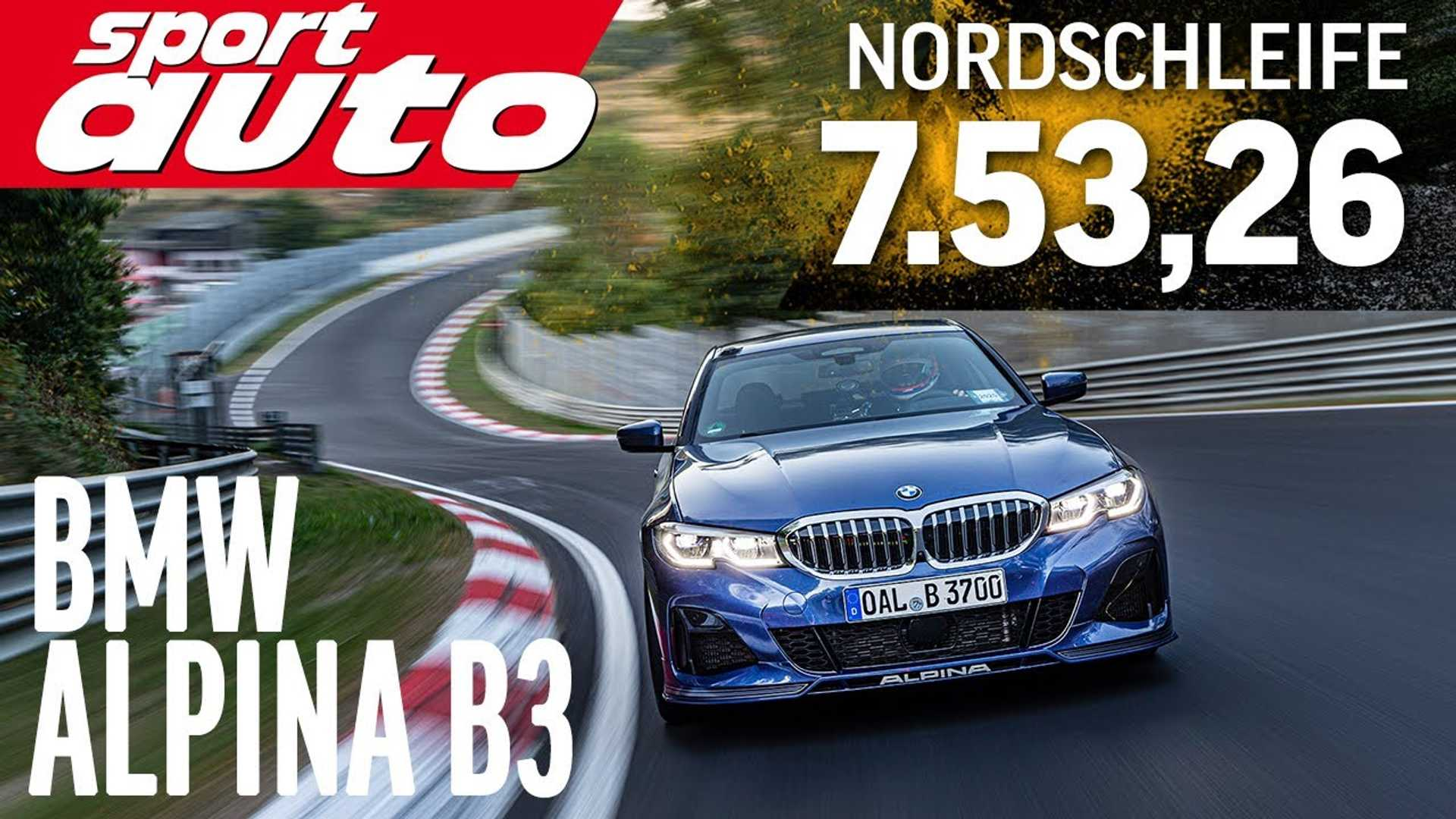 Watch Alpina B3 lap the Nurburgring in 7:53 minutes