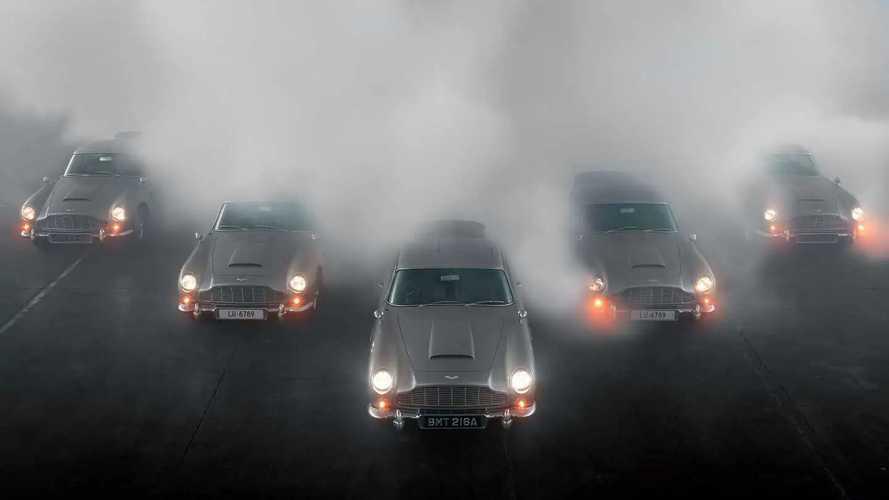 Первые пять Aston Martin DB5 Goldfinger