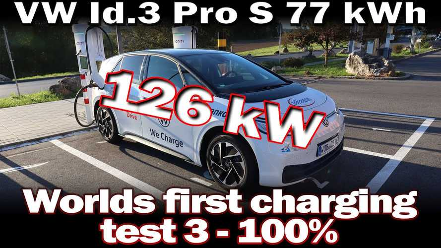 Volkswagen ID.3 Pro S (77 kWh) Shows Strong Fast Charging Curve