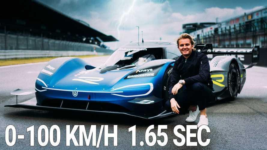 Nico Rosberg is meghajtotta az elektromos VW ID.R-t a Nürburgringen