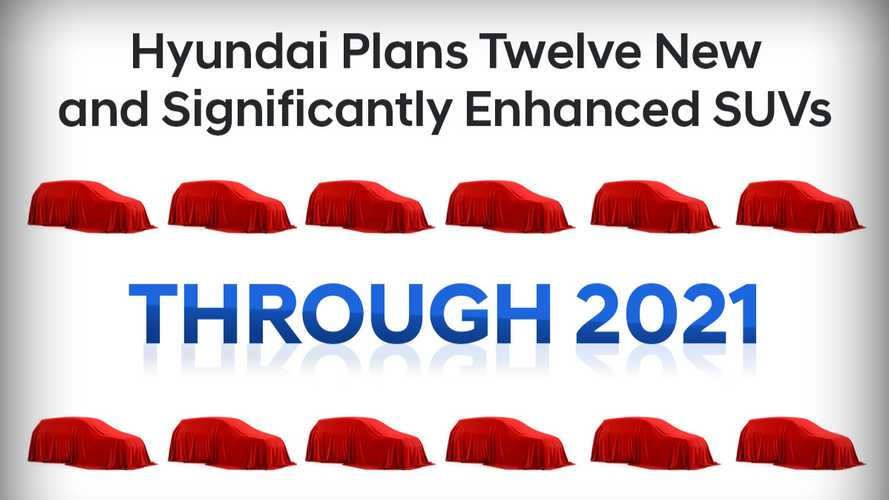 Hyundai To Launch 12 New And Significantly Enhanced SUVs Through 2021