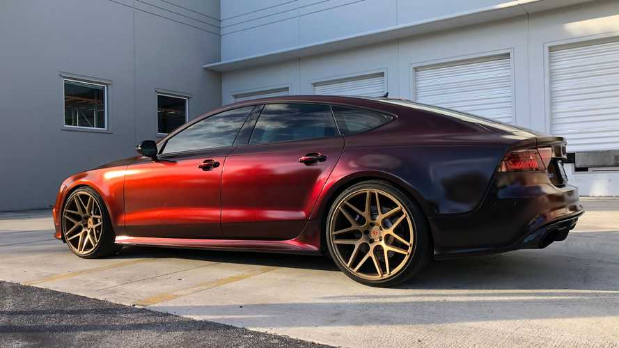 Audi RS7 With Color Shifting Red-To-Black Finish Looks Stunning