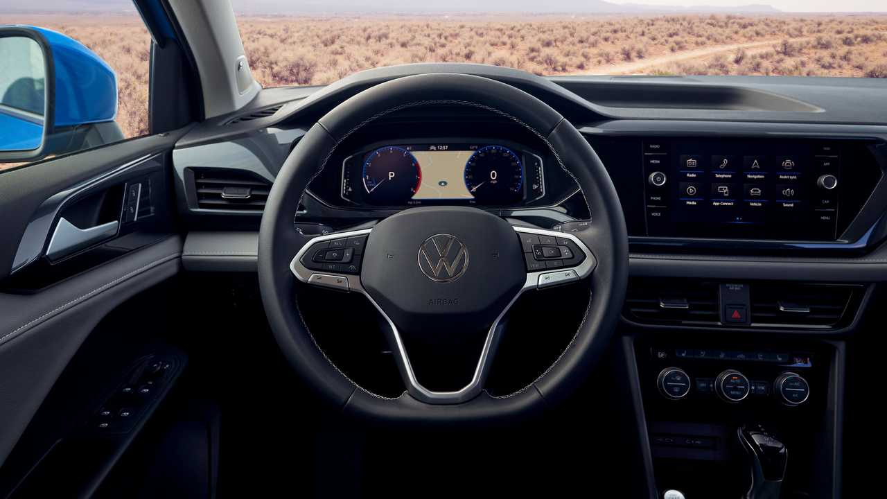 2022 steering wheel of Volkswagen Taos