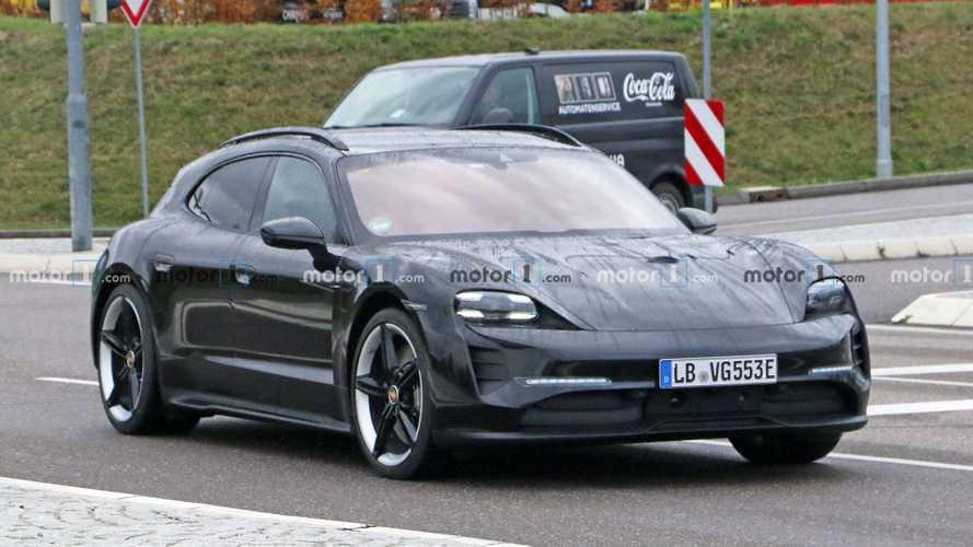 Новые шпионские фото Porsche Taycan Cross Turismo