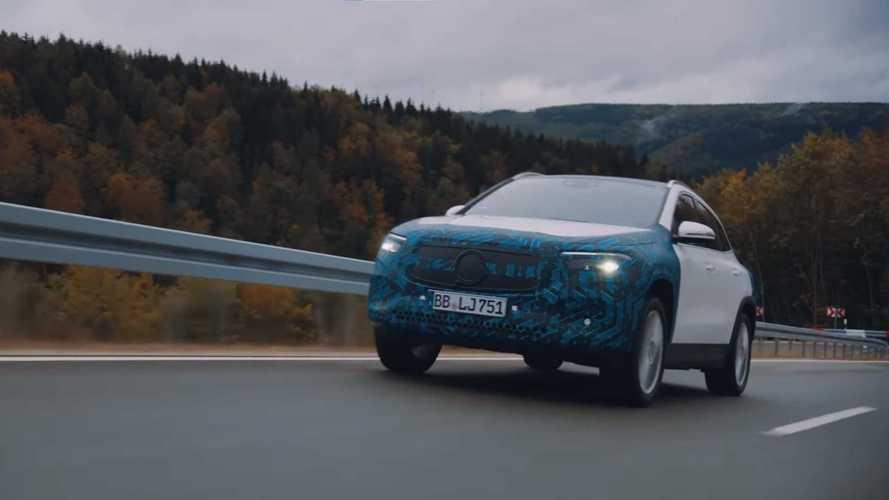 Mercedes показал испытания электрокаров EQA и EQS