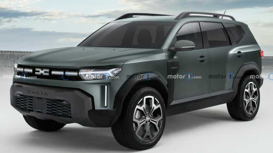 2025 Dacia Bigster SUV unofficially rendered with production design