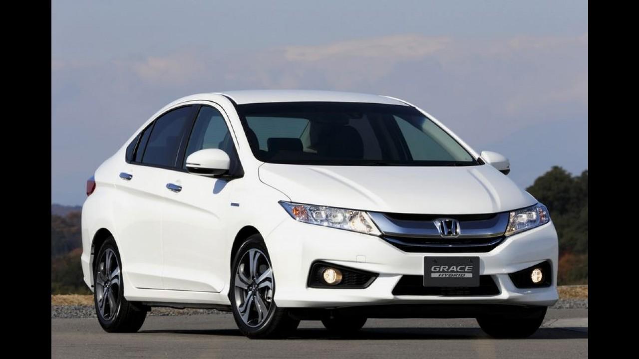 City tem motor híbrido e câmbio de dupla embreagem por R$ 42,2 mil no Japão