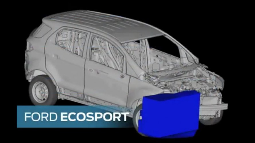Novo Ecosport 2013 - Vídeo de crash test mostra o modelo