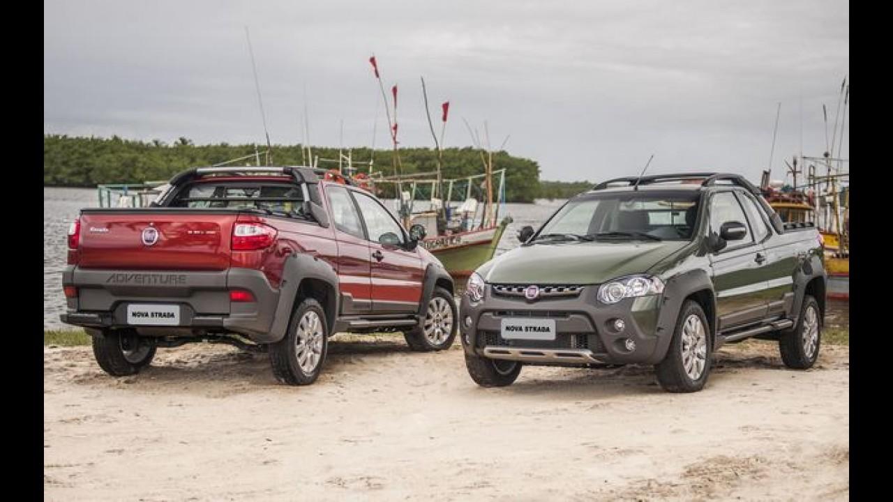 Fiat Strada 2014 muda visual e ganha terceira porta - preço parte de R$ 33.750