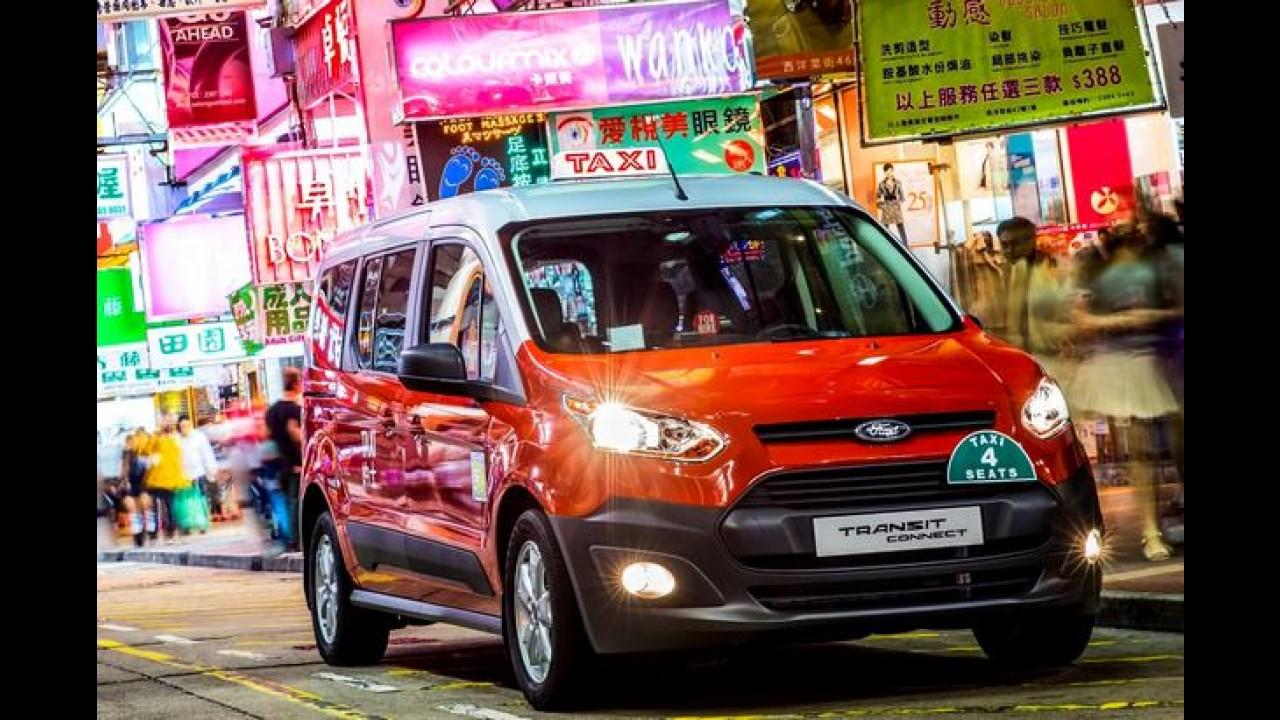Novo Ford Transit Connect vira táxi em Hong Kong