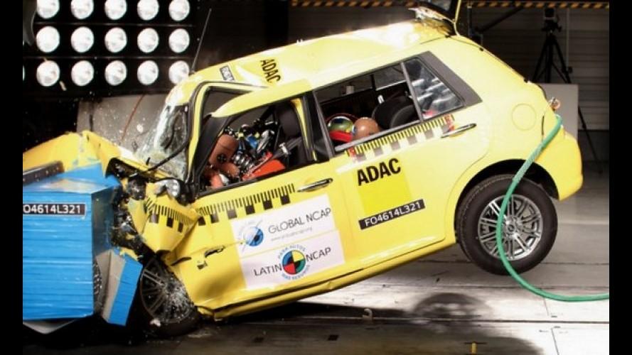 "Latin NCAP: Lifan 320 dá vexame com ""zero estrela"" e Onix repete 3 estrelas"