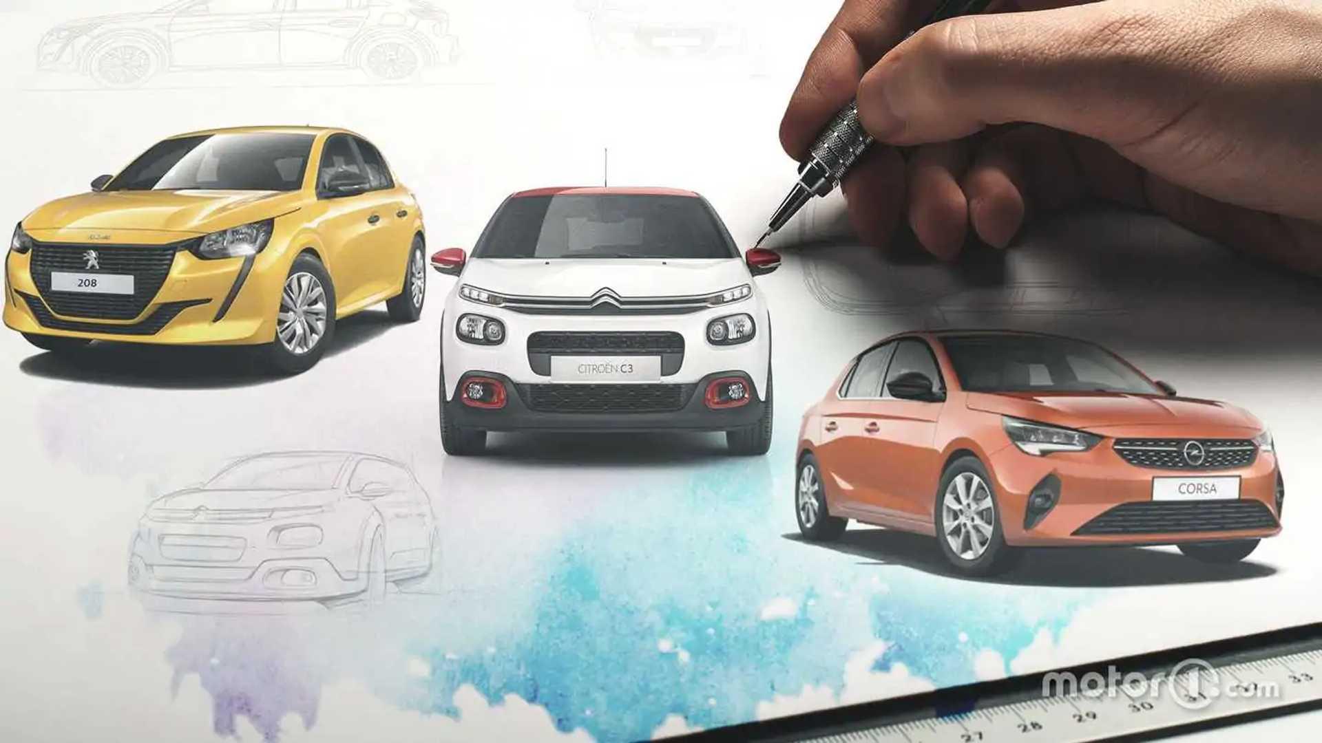Peugeot 208, Opel Corsa e Citroen C3: come si connota un design