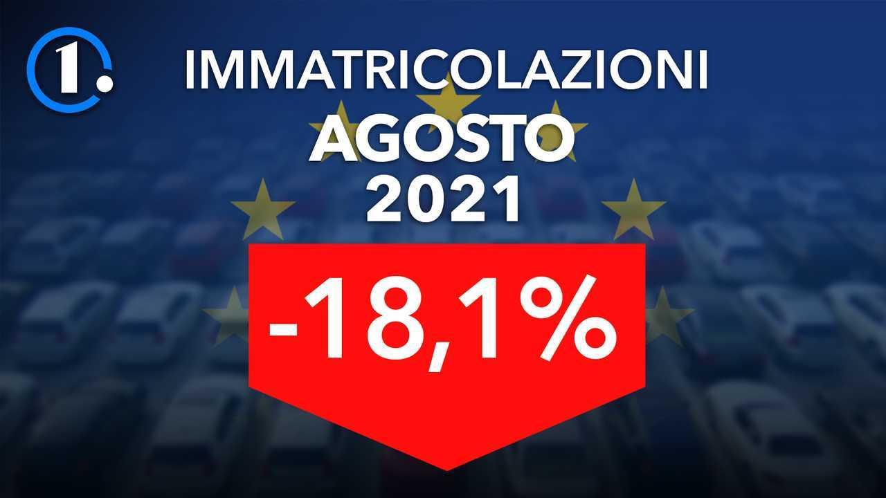 Immatricolazioni auto Europa, agosto 2021