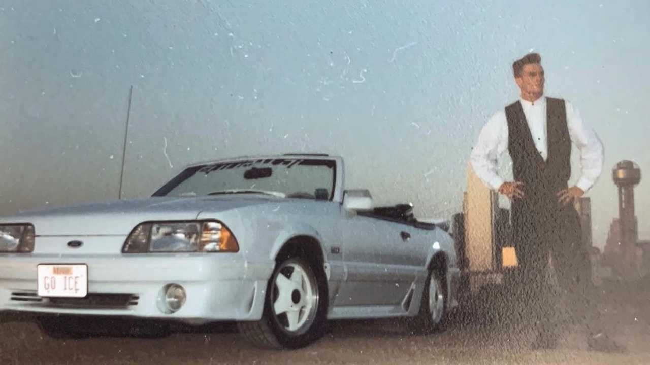 Vanilla Ice with his Fox Body Mustang