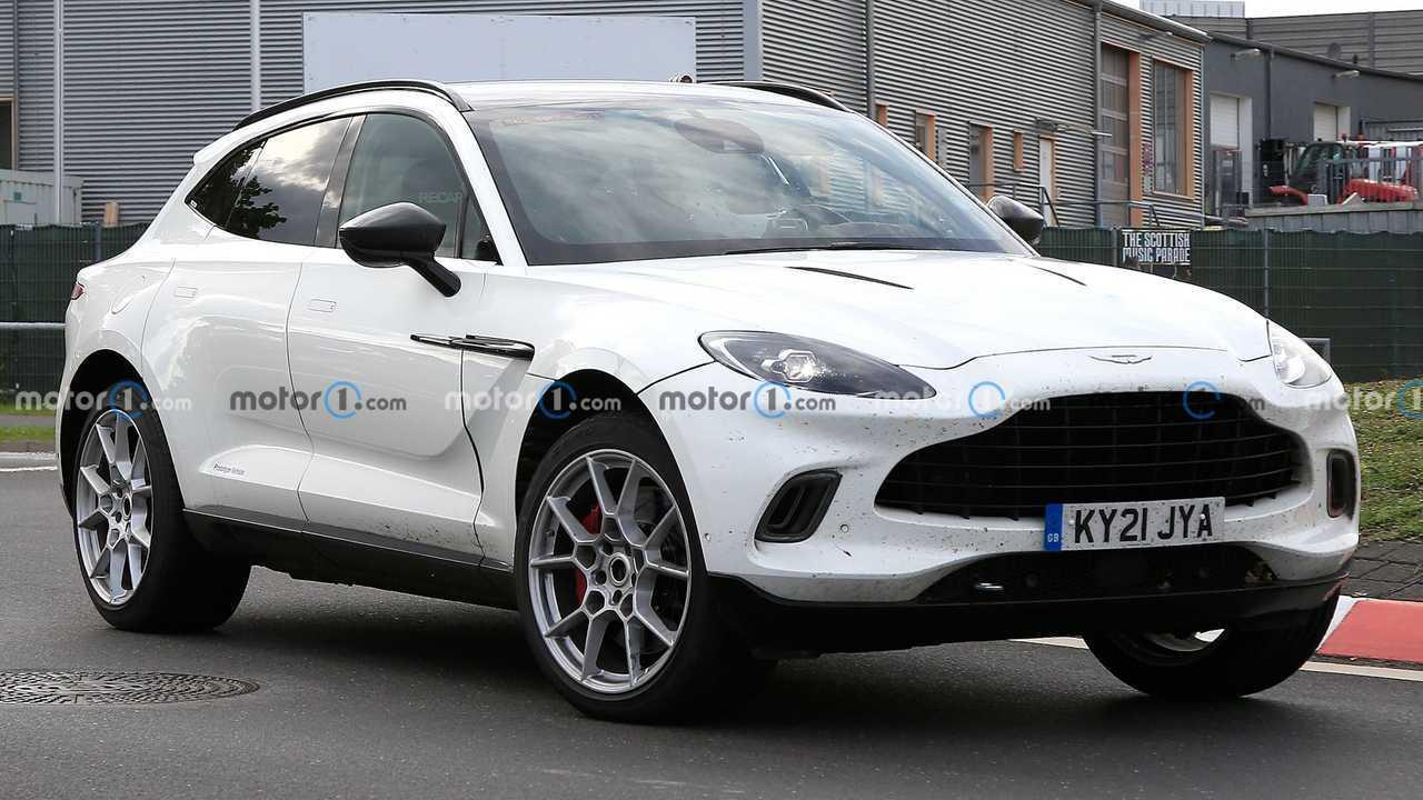 New Aston Martin DBX hybrid spy photos.