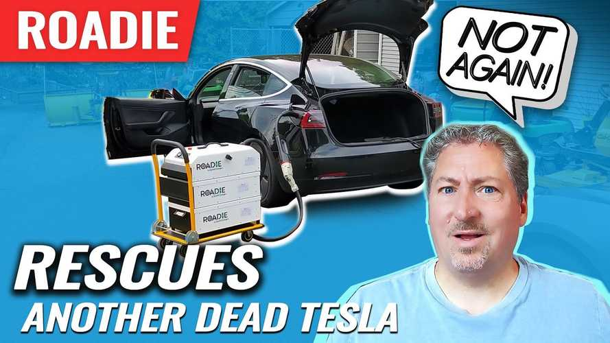 The SparkCharge Roadie Rescues Another Dead Tesla Model 3