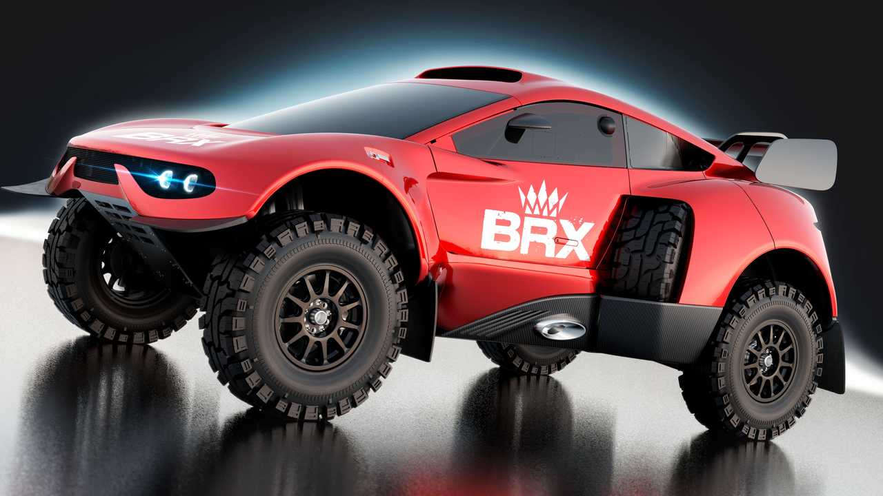 The upgraded Prodrive Hunter T1+ that will race in the 2022 Dakar Rally.