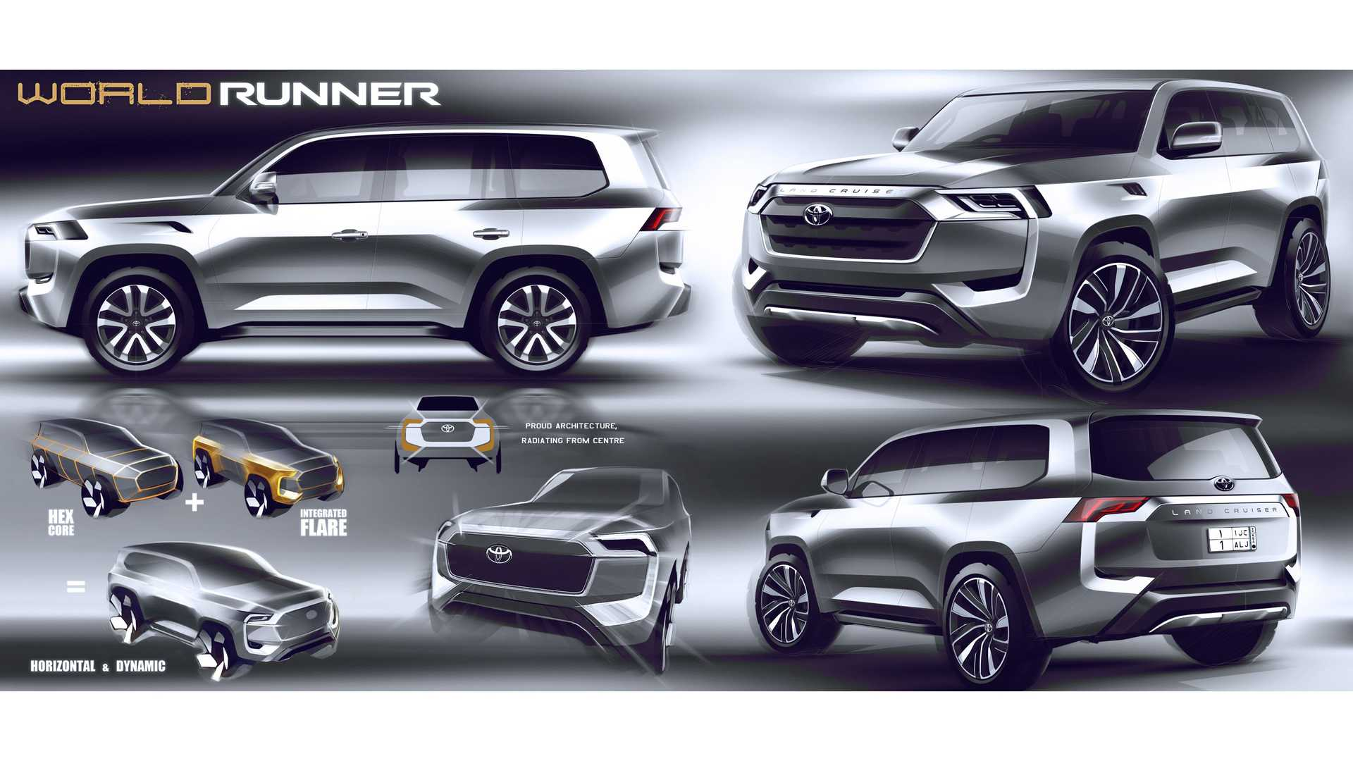 2022 Toyota Land Cruiser design sketches