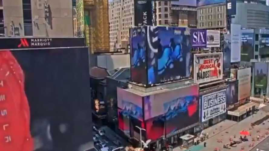 Is Tesla Spending $100,000 A Day On A Huge Times Square Ad Spot?