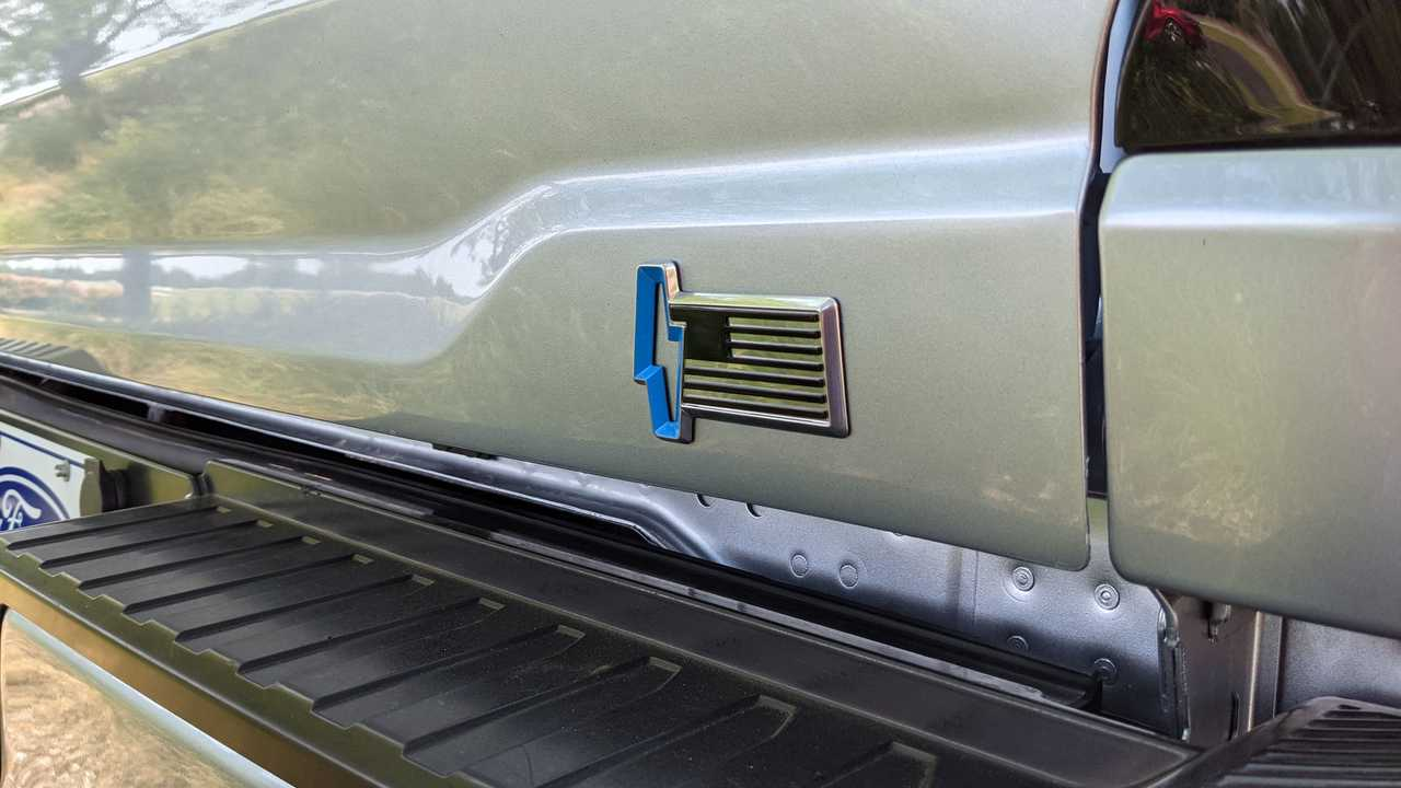 Ford F150 Lightning American flag badge