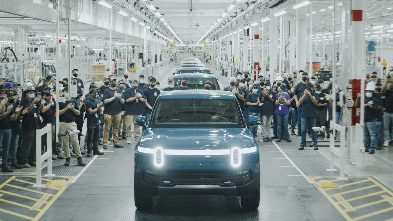 First Production Rivian R1T Rolls Off Assembly Line