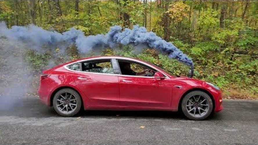 This Tesla Model 3 Rolls Coal And Has A 'Working' Exhaust