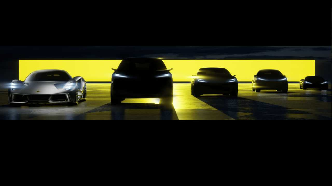 Lotus teases four new electric vehicles