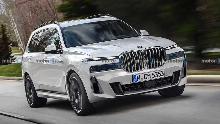 BMW X7 2023 terá dianteira com faróis divididos estilo Fiat Toro