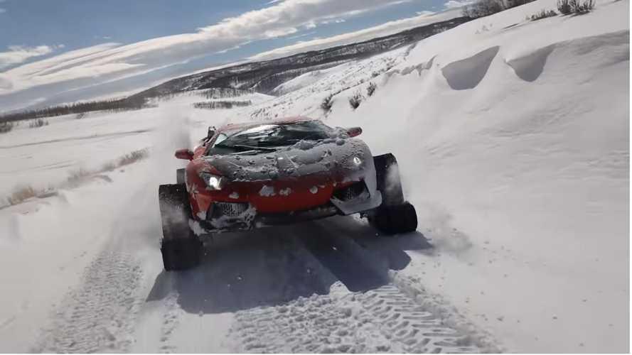 Vídeo: un youtuber pone orugas a su Lamborghini Aventador