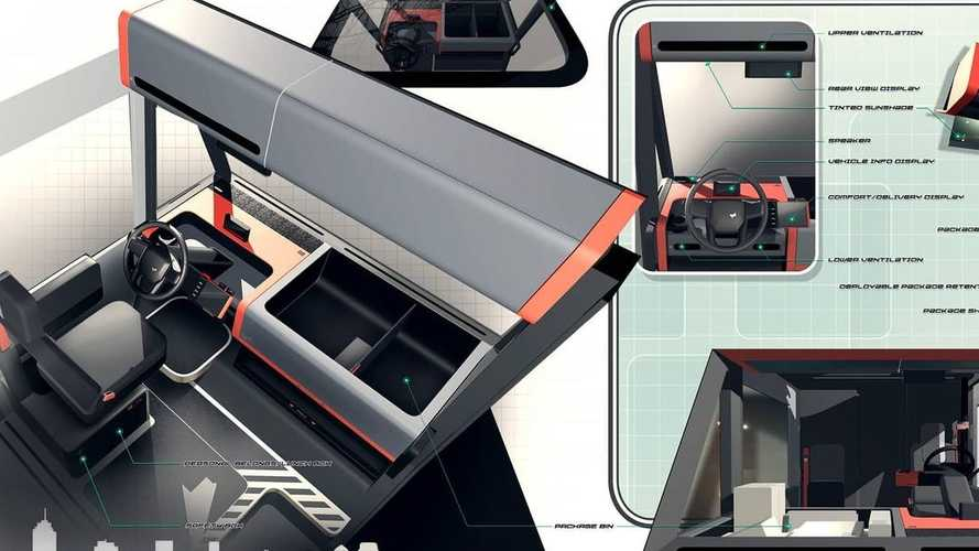 Brightdrop EV600 Concept Sketches Highlight Neat Design Details