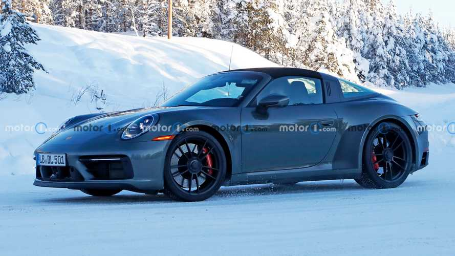 Porsche 911 Targa GTS spied hiding refreshed interior