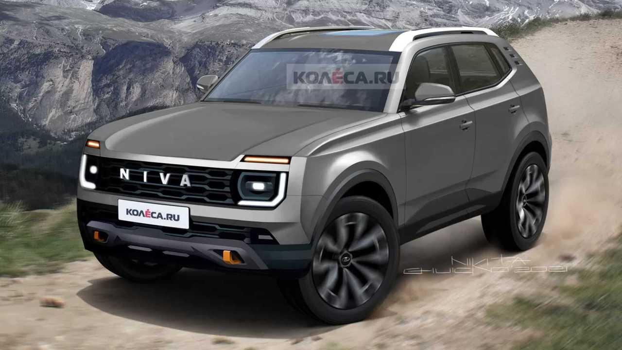 Illustration nouveau Lada Niva 2024