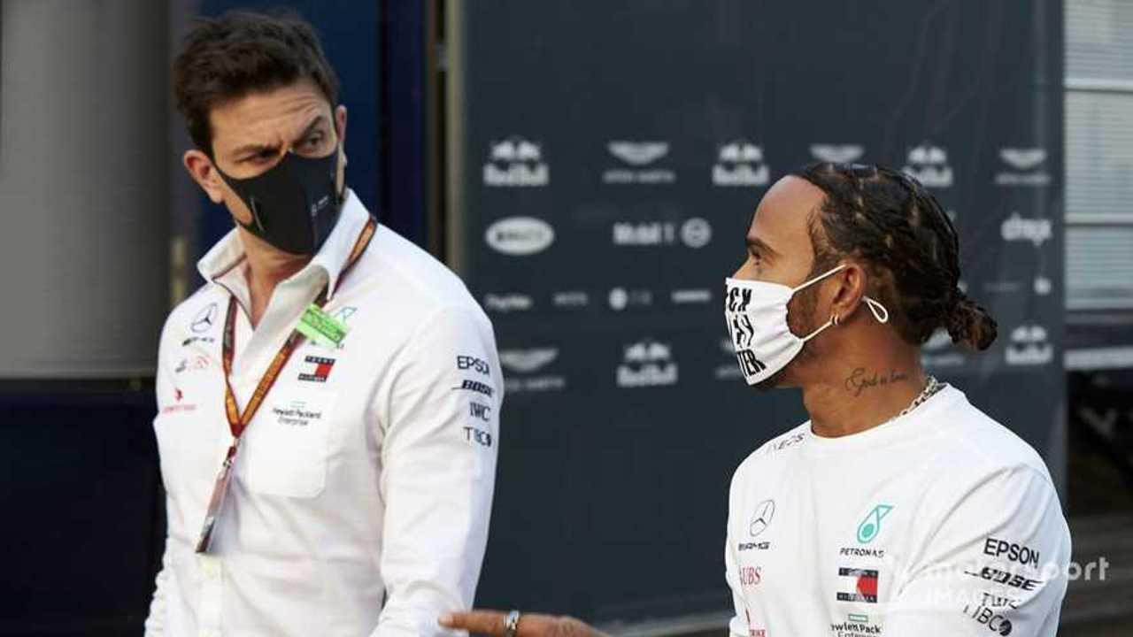 Toto Wolff and Lewis Hamilton at Emilia-Romagna GP 2020